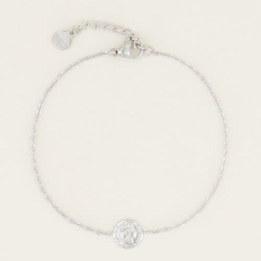 My Jewellery My Jewellery Armband Klein Muntje Zilver