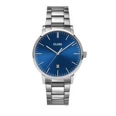 CLUSE CLUSE horloge Aravis 3-link Silver Dark Blue