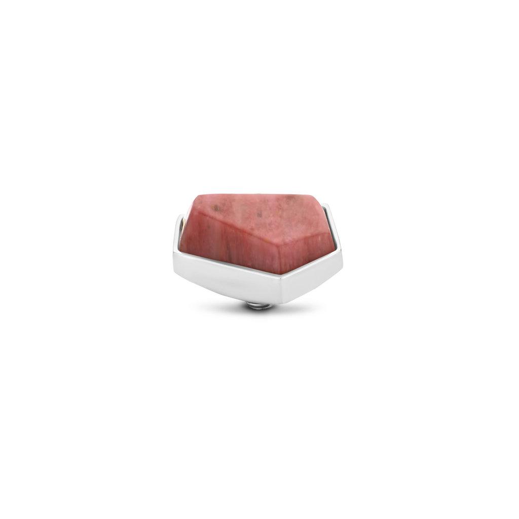 Melano Melano Twisted meddy Geo 12 mm Rhodonite Stainless Steel