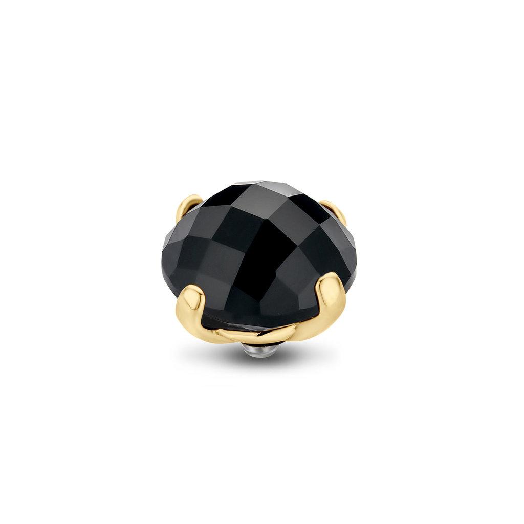 Melano Melano Twisted meddy Facet Bold 10 mm Gold Plated Black