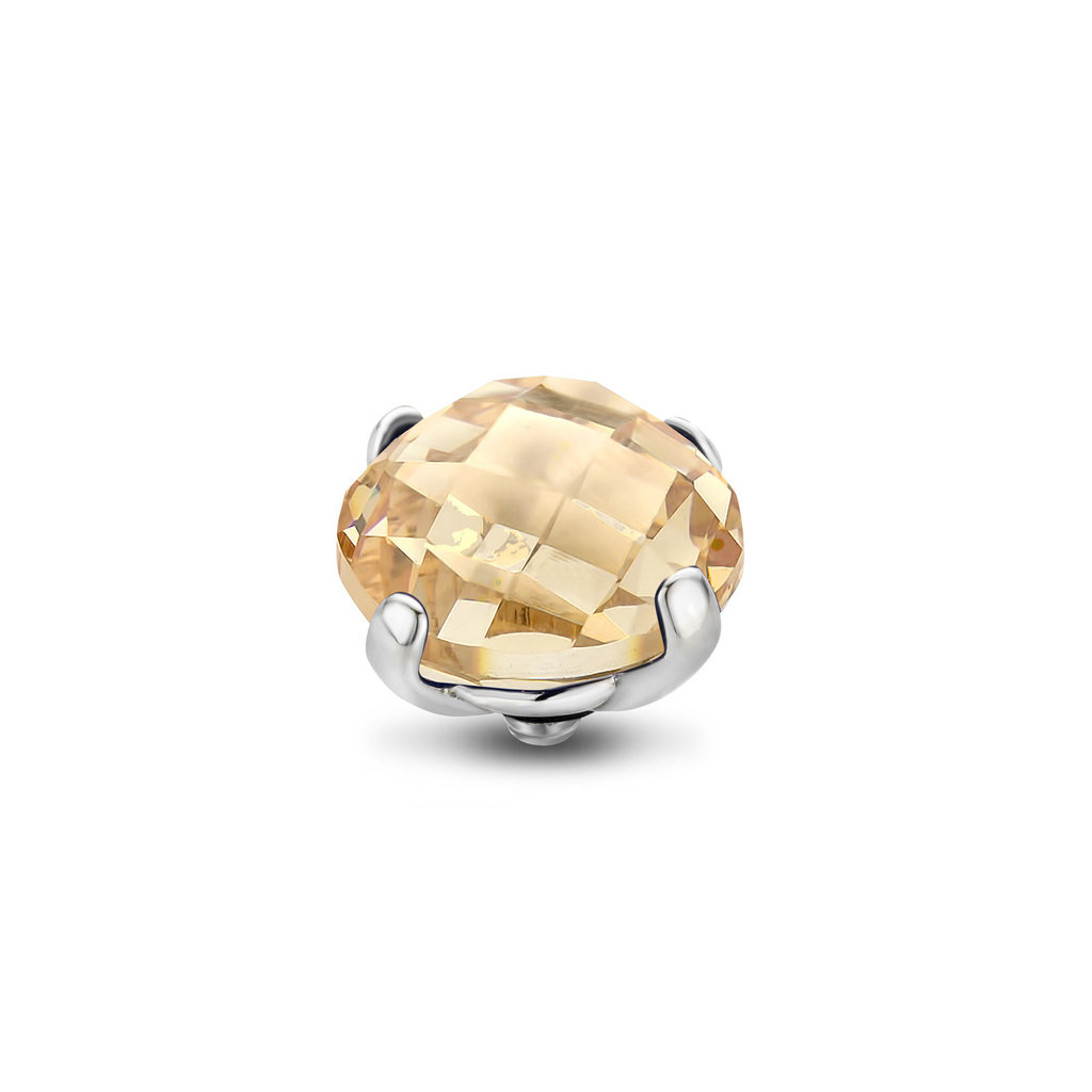 Melano Melano Twisted meddy Facet Bold 10 mm Stainless Steel Golden Shadow