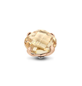 Melano Melano Twisted meddy Facet Bold 10 mm Rosé Gold Plated Golden Shadow