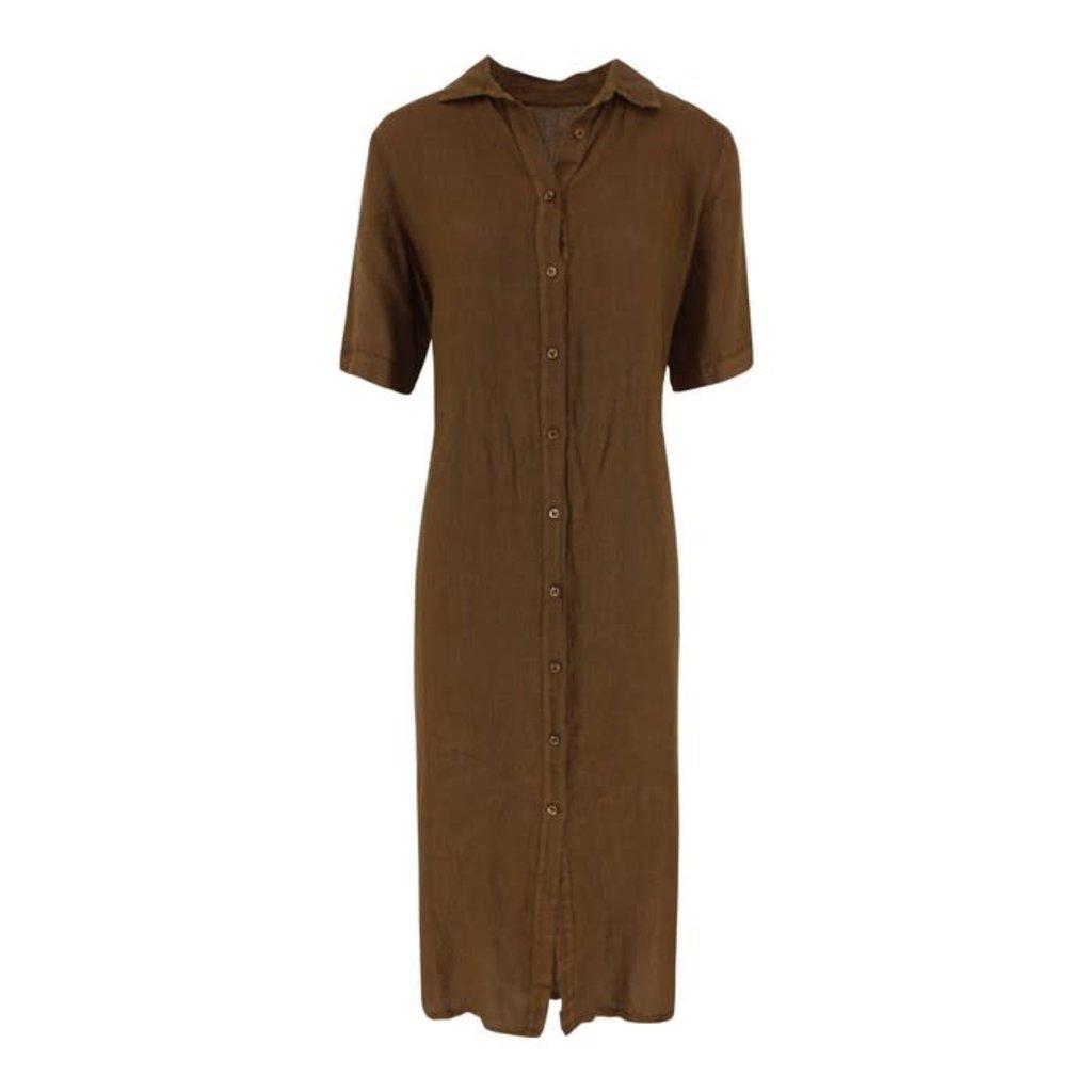 Nukus Nukus jurk Dinni Linnen Buttons-Caffe