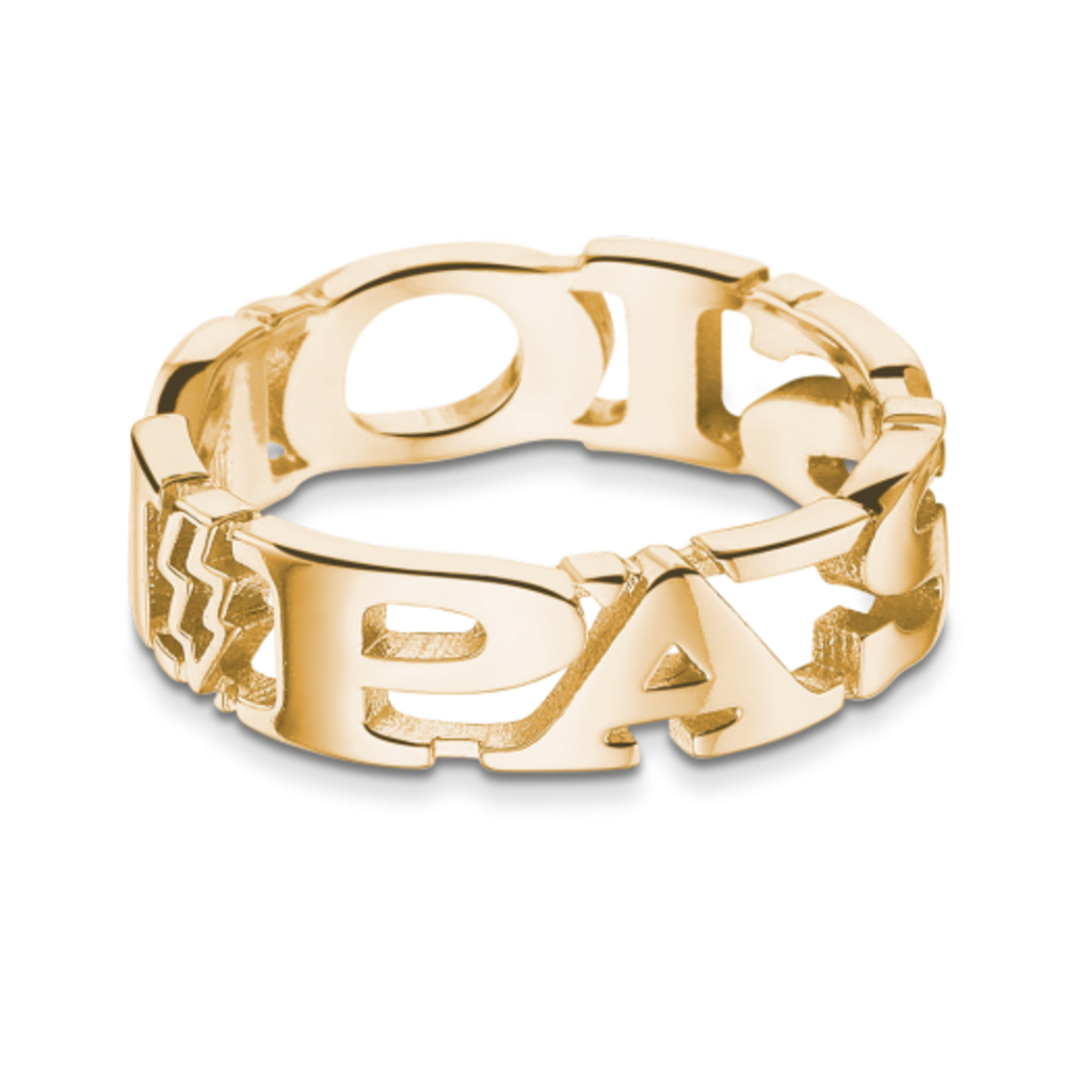 Mi Moneda Take What You Need ring Passion gold plated mt 56