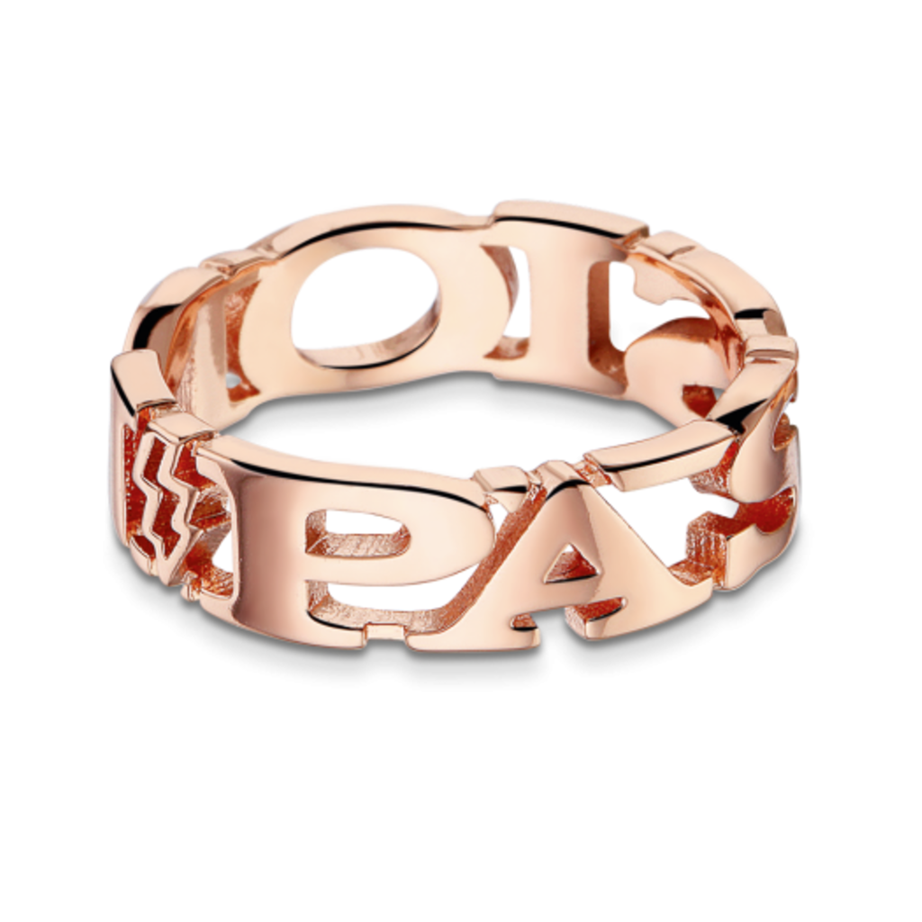 Mi Moneda Take What You Need ring Passion Rosé Gold Plated mt 54