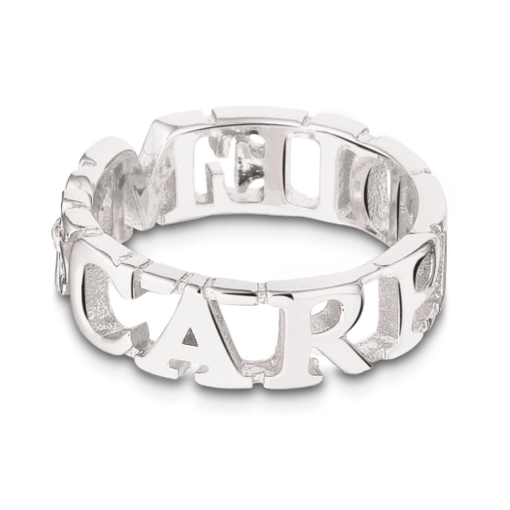 Mi Moneda Take What You Need ring Carpe Diem Silver Plated mt 52