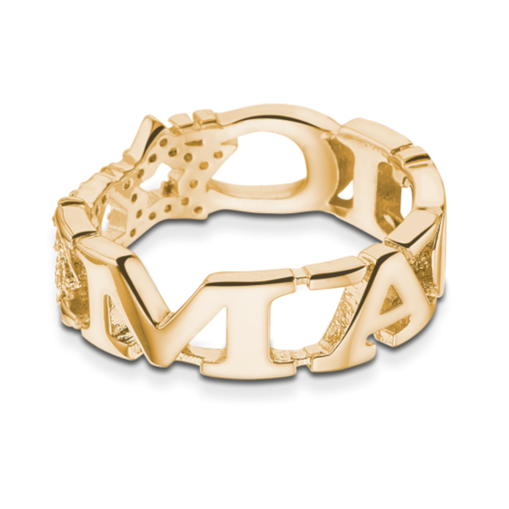 Mi Moneda Take What You Need ring Magic Gold Plated