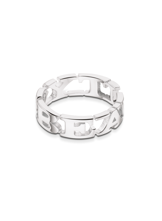 Take What You Need ring Beauty Silver Plated