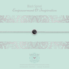 Heart to Get Heart to Get armband Gemstone Black Spinel Silver