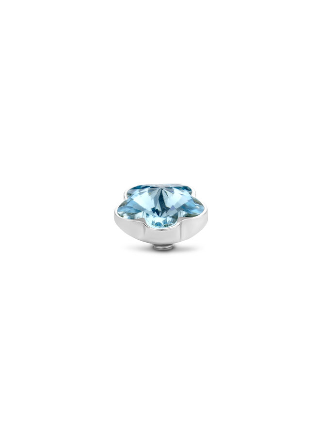Melano meddy Twisted Flower Blue Stainless Steel