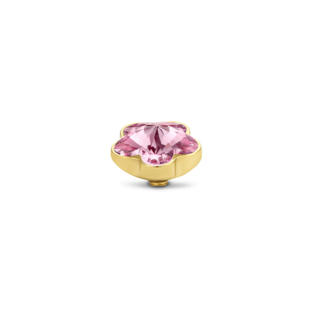 Melano Melano meddy Twisted Flower Pink Gold Plated