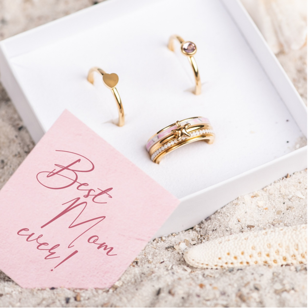 iXXXi Jewelry iXXXi ring Complete Set Paradise Pink Gold Plated