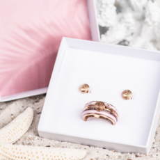 iXXXi Jewelry iXXXi ring Complete Set Sea Shell Rose Gold Plated