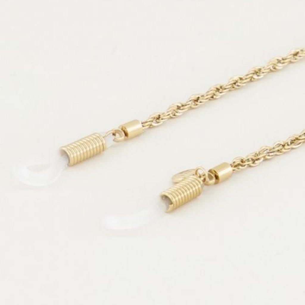 My Jewellery My Jewellery Brillenkoord Gedraaid Goud