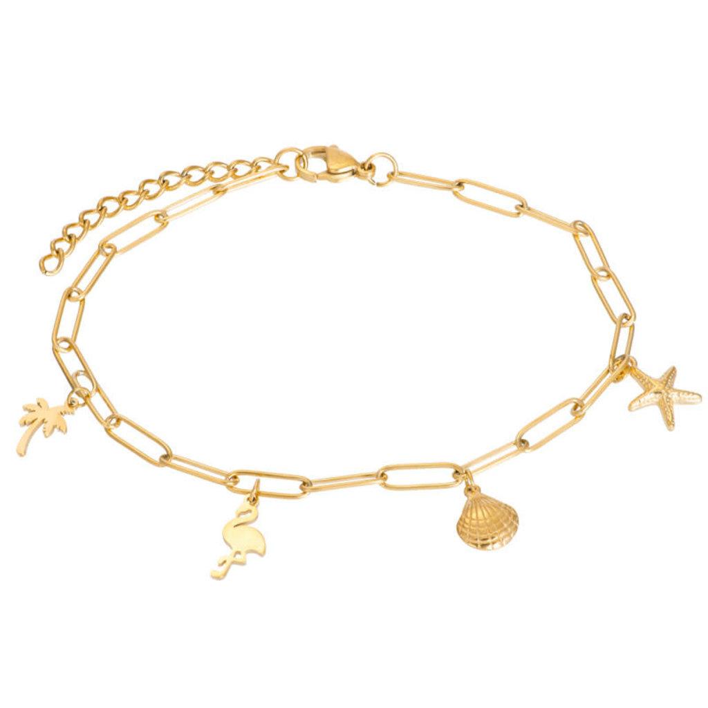 iXXXi Jewelry iXXXi enkelbandje met Bedels Gold Plated