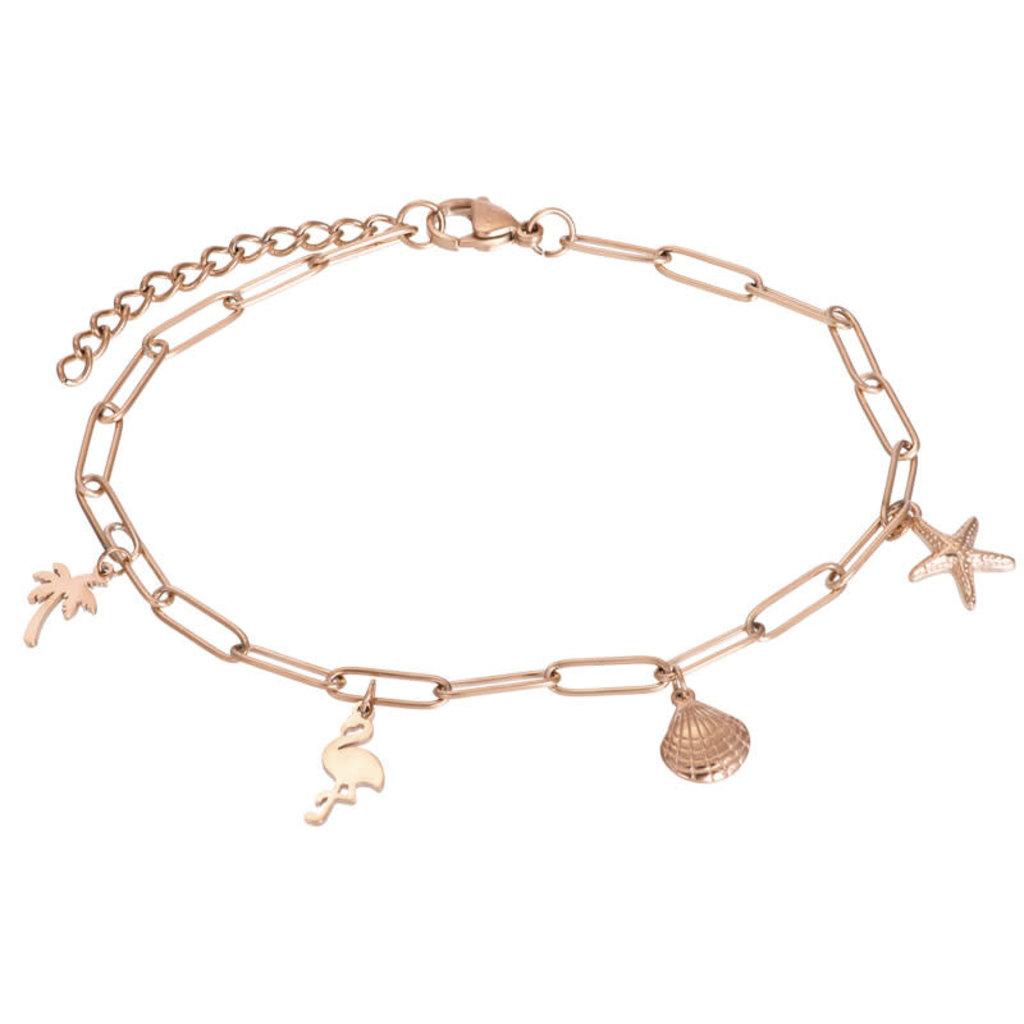 iXXXi Jewelry iXXXi enkelbandje met Bedels Rosé Gold Plated