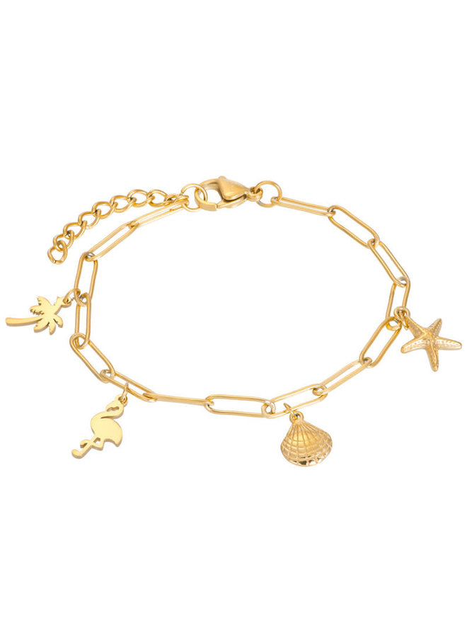 iXXXi armband met bedels Gold Plated