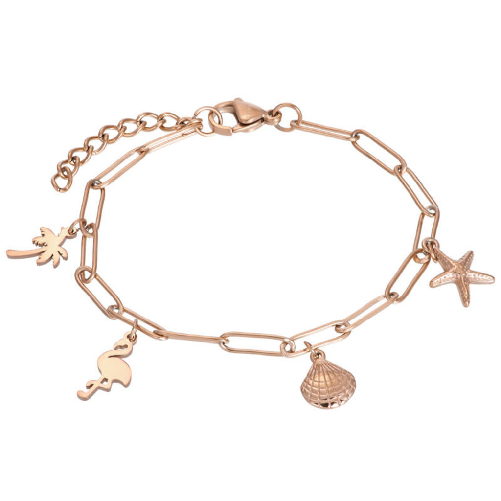 iXXXi Jewelry iXXXi armband met bedels Rosé Gold Plated