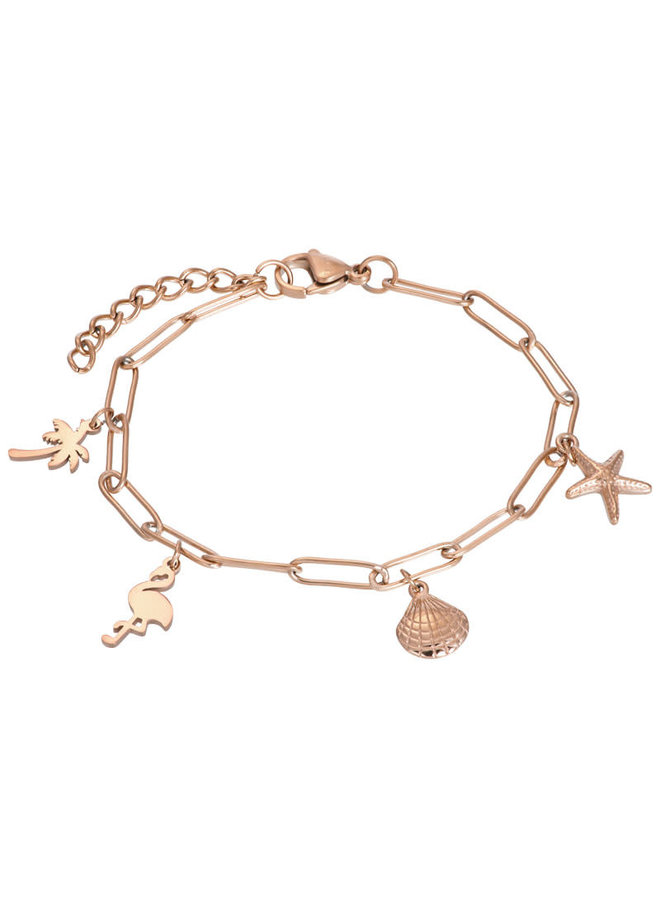 iXXXi armband met bedels Rosé Gold Plated