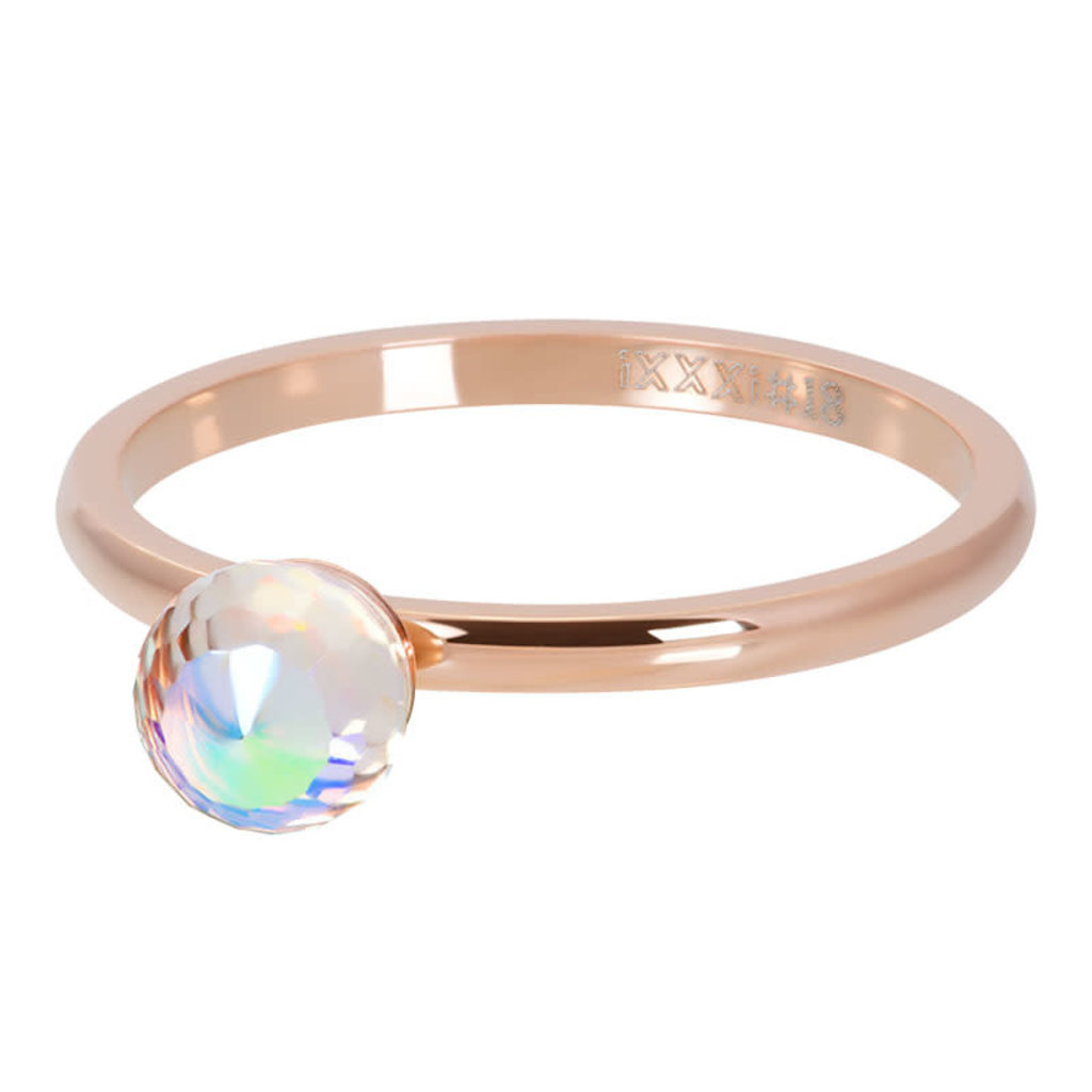iXXXi Jewelry iXXXi vulring Crystal Glass Ball AB Rosé Gold Plated