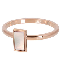 iXXXi Jewelry ixxxi vulring Yellow Shell Stone Rosé Gold Plated