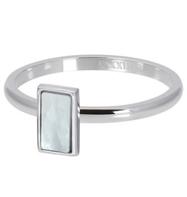 iXXXi Jewelry ixxxi vulring 2mm White Shell Stone Stainless Steel