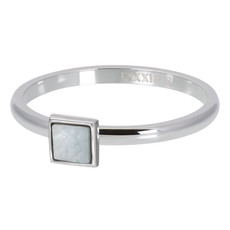 iXXXi Jewelry ixxxi vulring 2mm White Shell Stone Square Stainless Steel