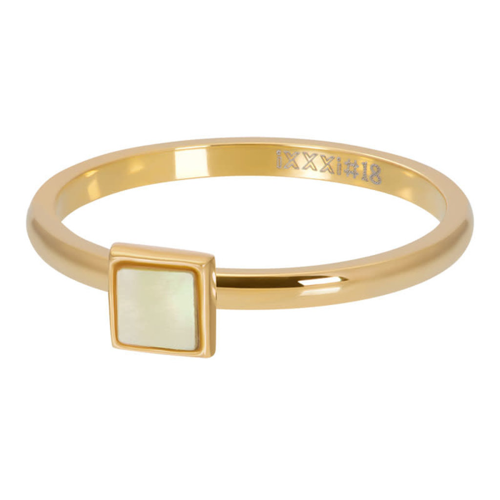 iXXXi Jewelry ixxxi vulring 2mm Yellow Shell Stone Square Gold Plated