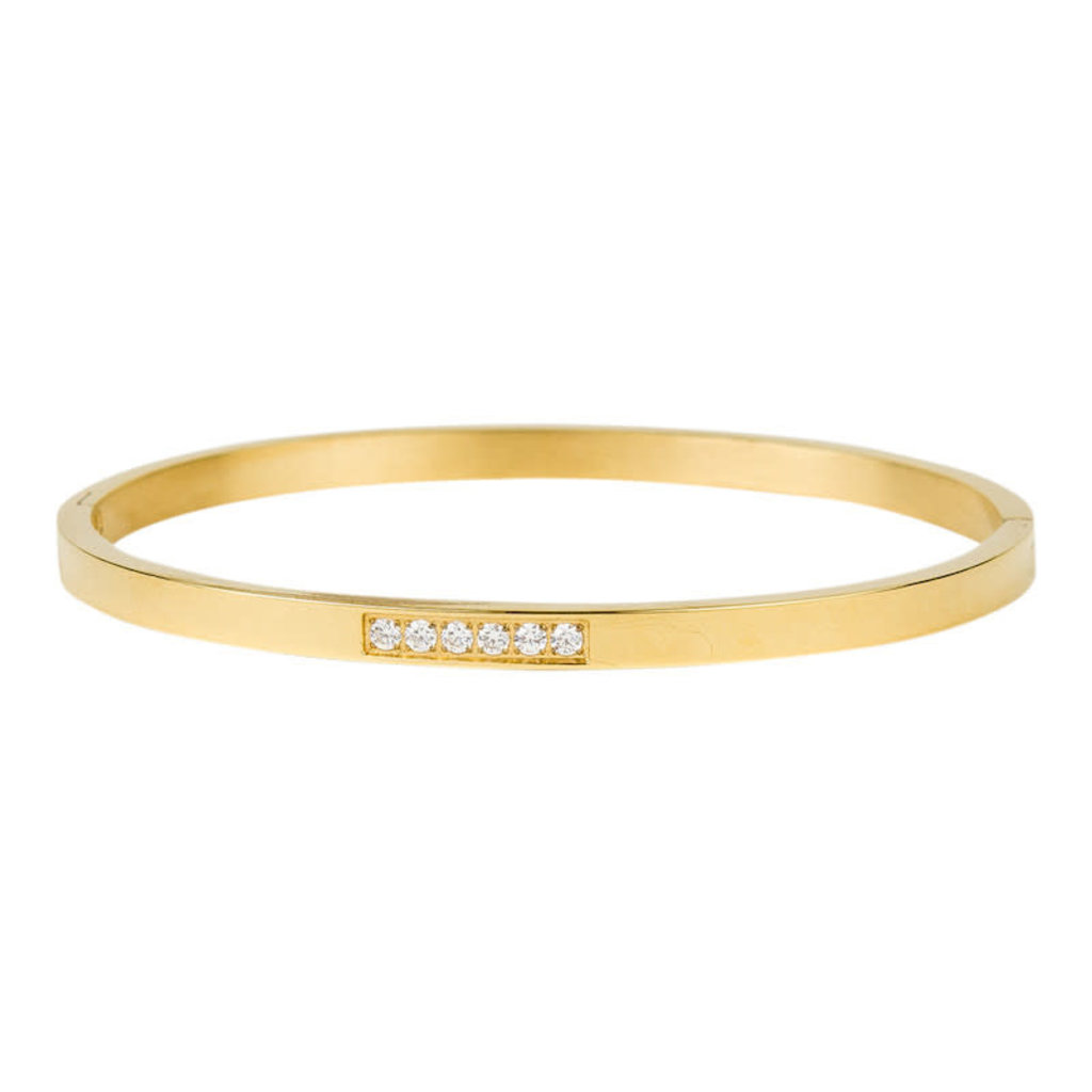 Kalli Kalli Bangle Six Crystals Row - 2140G 4mm