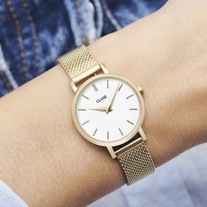 CLUSE CLUSE horloge Boho Chic Petite Mesh  Gold/white
