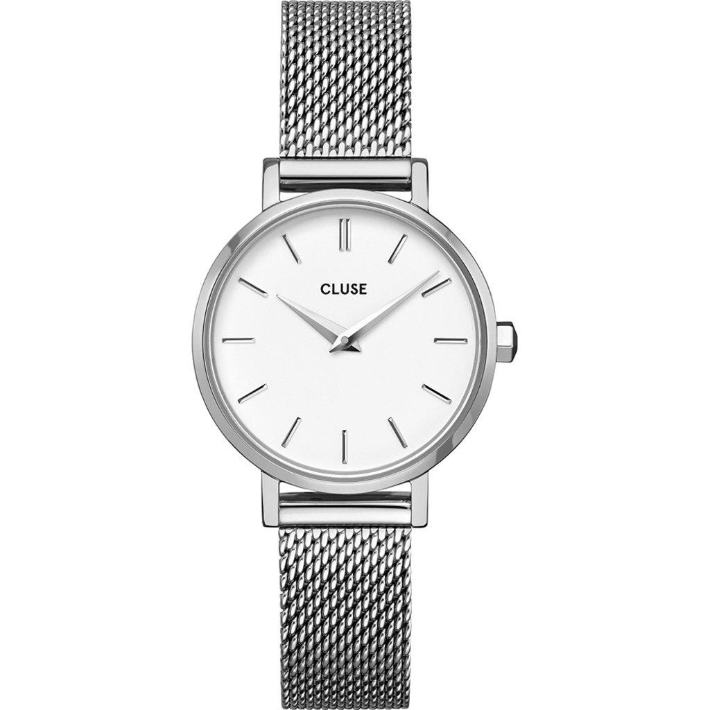 CLUSE CLUSE horloge Boho Chic Petite Mesh  Silver/White