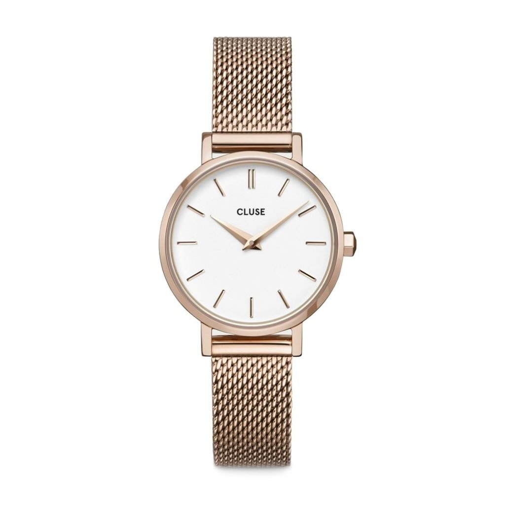 CLUSE CLUSE horloge Boho Chic Petite Mesh  Rose/White