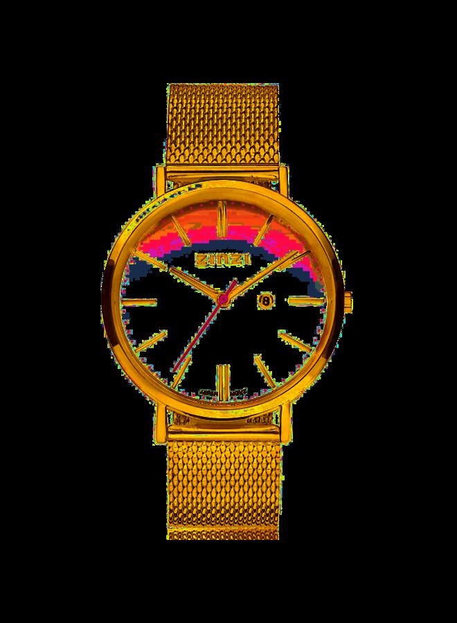 Zinzi horloge Retro ZIW407M Gold/White 38mm