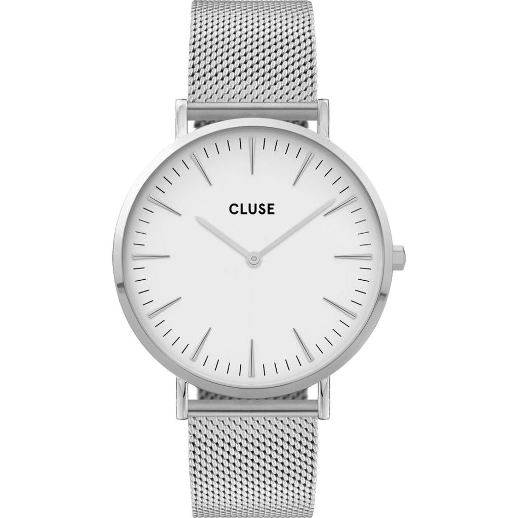 CLUSE CLUSE horloge Boho Chic Mesh Silver/White