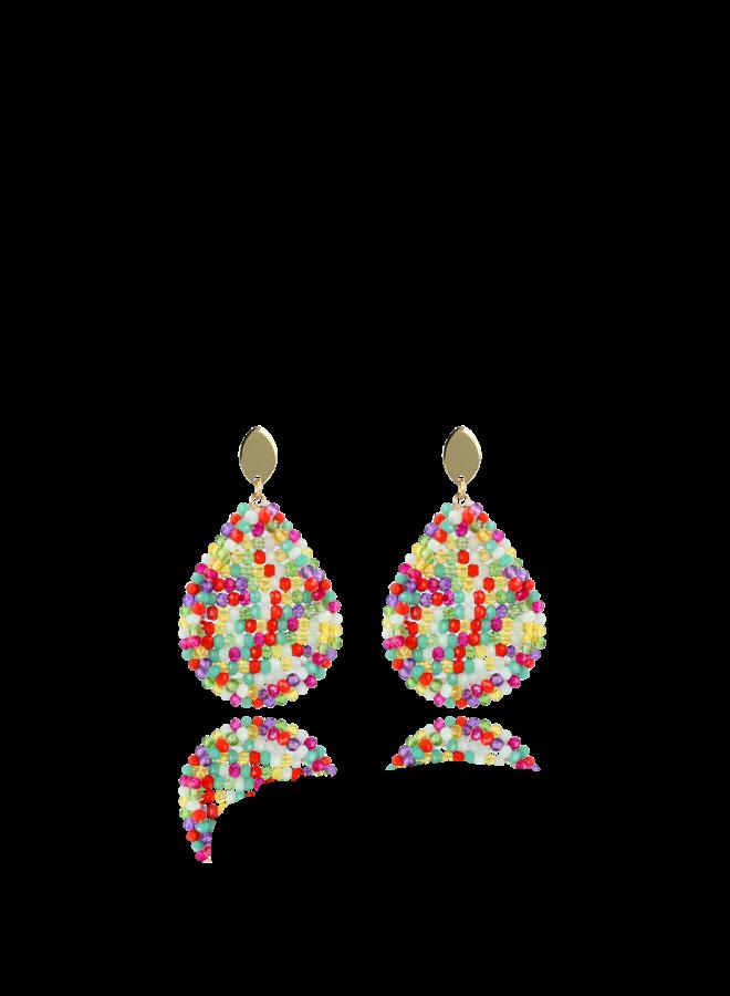 LOTT. Gioielli oorbellen Multicolor Glassherry closed drop M