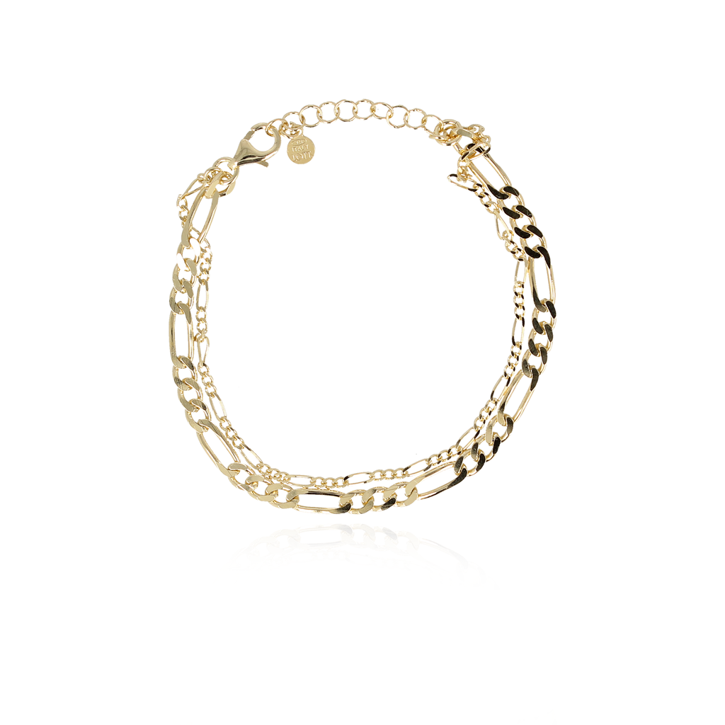 LOTT. Gioielli LOTT. Gioielli armband Vintage Double Chain Gold Plated