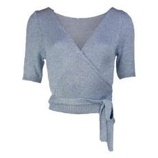 Typical Jill wikkel vest Demi Lurex Light Blue
