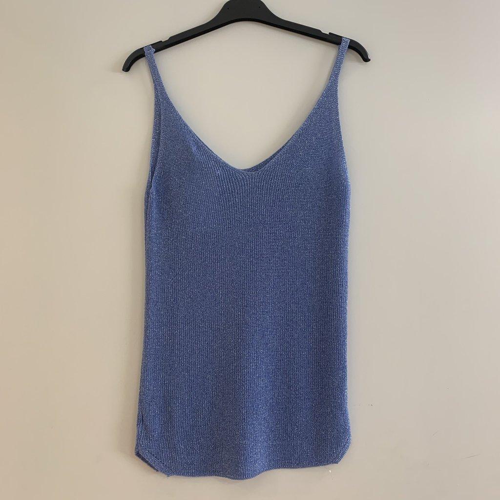 Ambika Ambika top Lurex Blue One Size