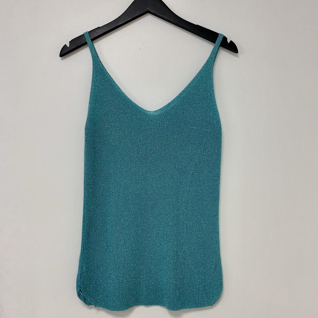 Ambika Ambika top Lurex Turquoise One Size