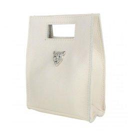 Baggyshop Baggyshop tas Tiger Bag Beige/Zilver maat S