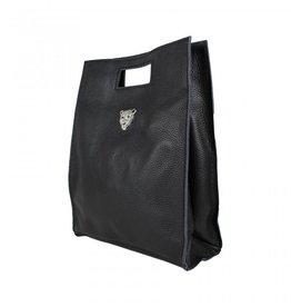Baggyshop Baggyshop tas Tiger Bag Zwart/Zilver maat L
