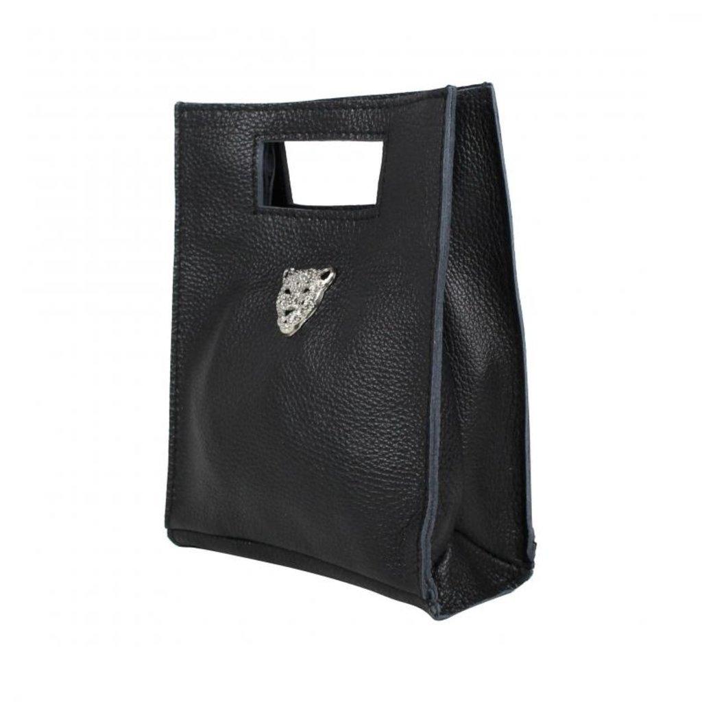 Baggyshop Baggyshop tas Tiger Bag Zwart/Zilver maat S