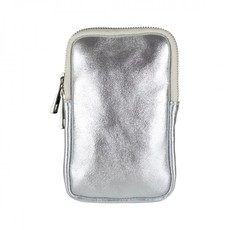 Baggyshop Baggyshop tas Call Me Up Leather Zilver Metallic/Zilver