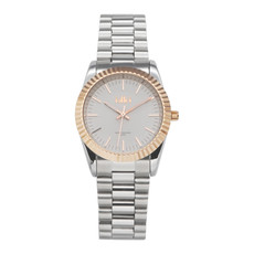 IKKI IKKI horloge Bronx BX05 Silver/Rosé Gold Plated