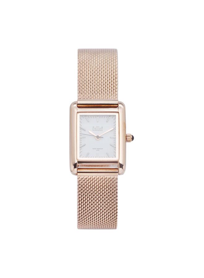 IKKI Horloge Grace GC02 Rosé Gold Plated/White