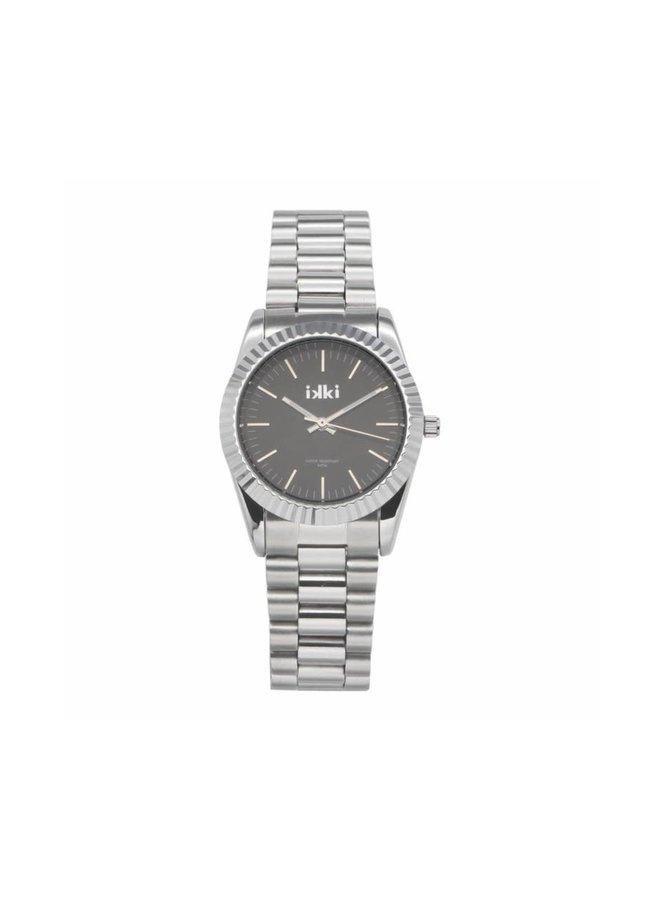 IKKI horloge Bronx BX02 Silver/Dark Grey