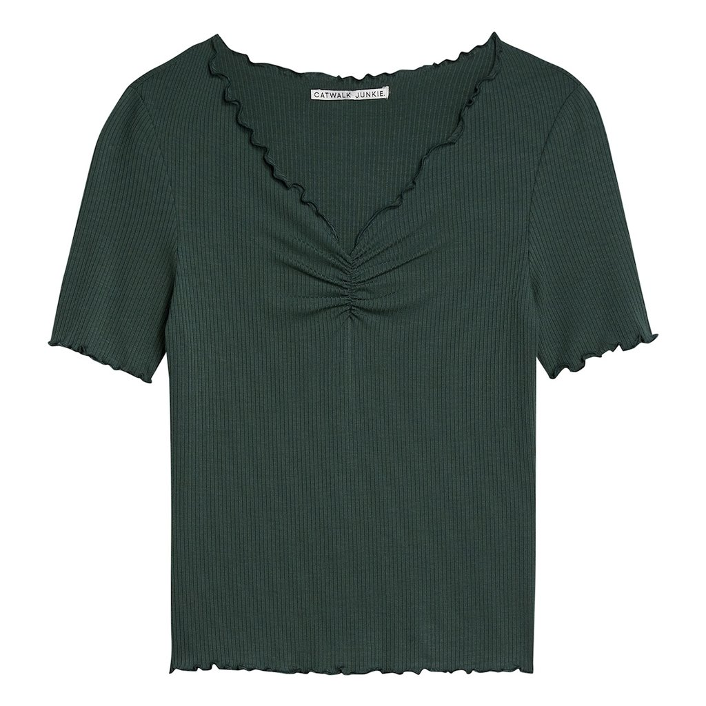 Catwalk Junkie Catwalk Junkie T-shirt Bella Jungle Green