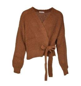 Typical Jill Wikkel/knoop vest Pia Camel One Size