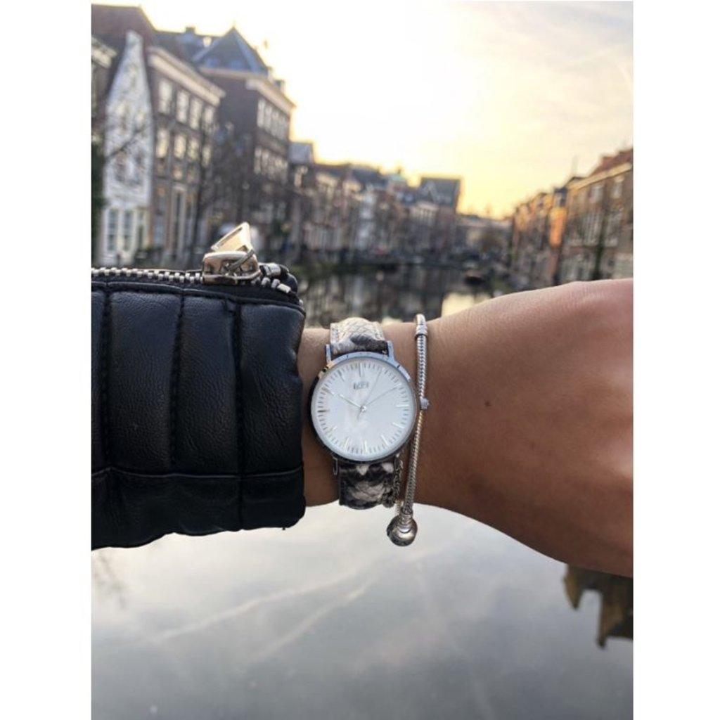 IKKI IKKI horloge Rose RSE07 Snake/Silver