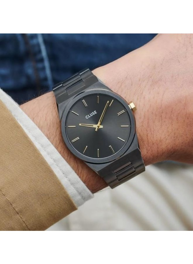 CLUSE horloge Vigoureux Steel Dark Grey